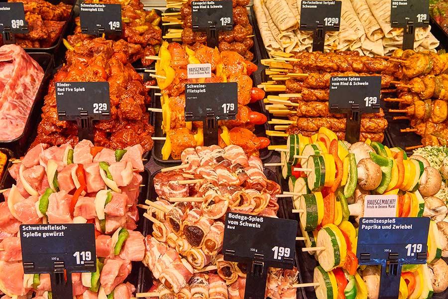 Leckeres Fleisch bei REWE Tim Schirra