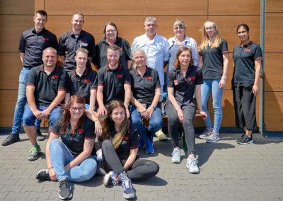 Das Team von REWE Tim Schirra